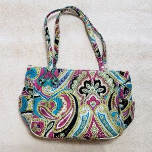 RETIRED Vera Bradley ZOE SILK PAISLEY Small Purse